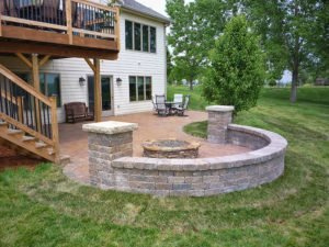 backyard fire pit in st charles iowa