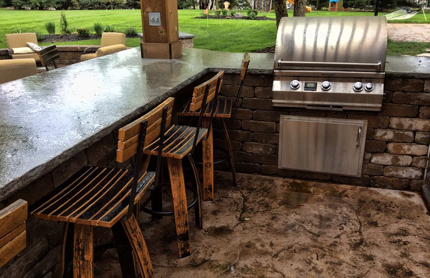 Outdoor Kitchens Earthly Possibilities Landscaping Des Moines