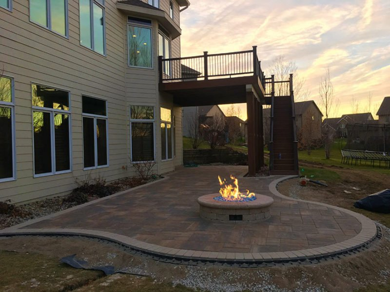 urbandale fire pit patio project