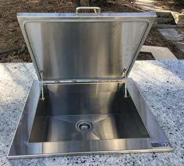 outdoor kitchen built in sink