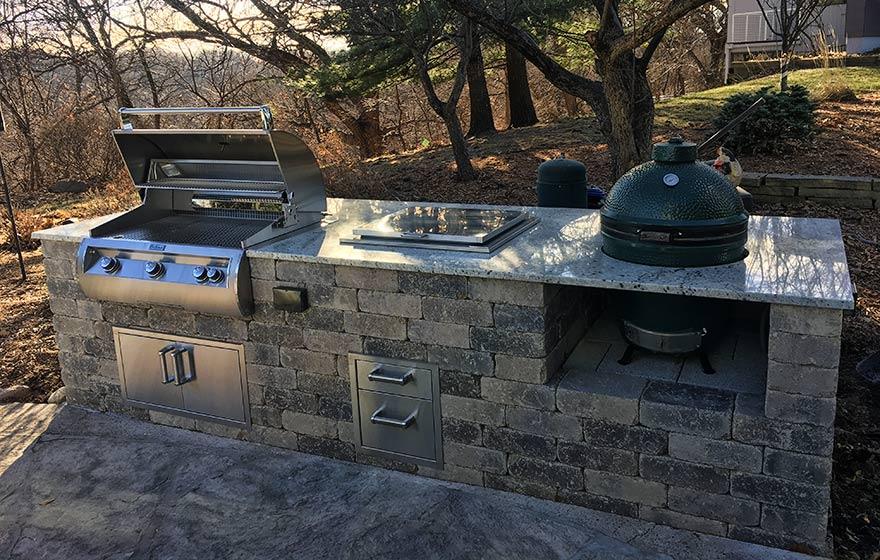 outdoor kitchen construction west des moines