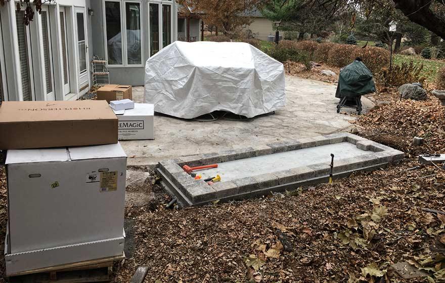 patio kitchen foundation