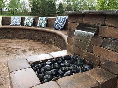 paver block waterfall