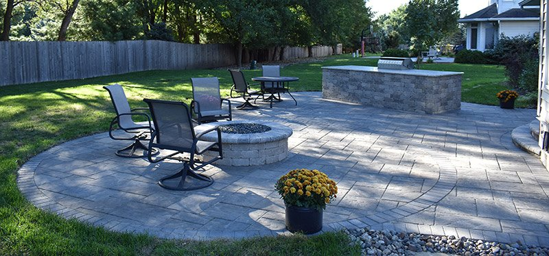 after paver patio construction in Des Moines