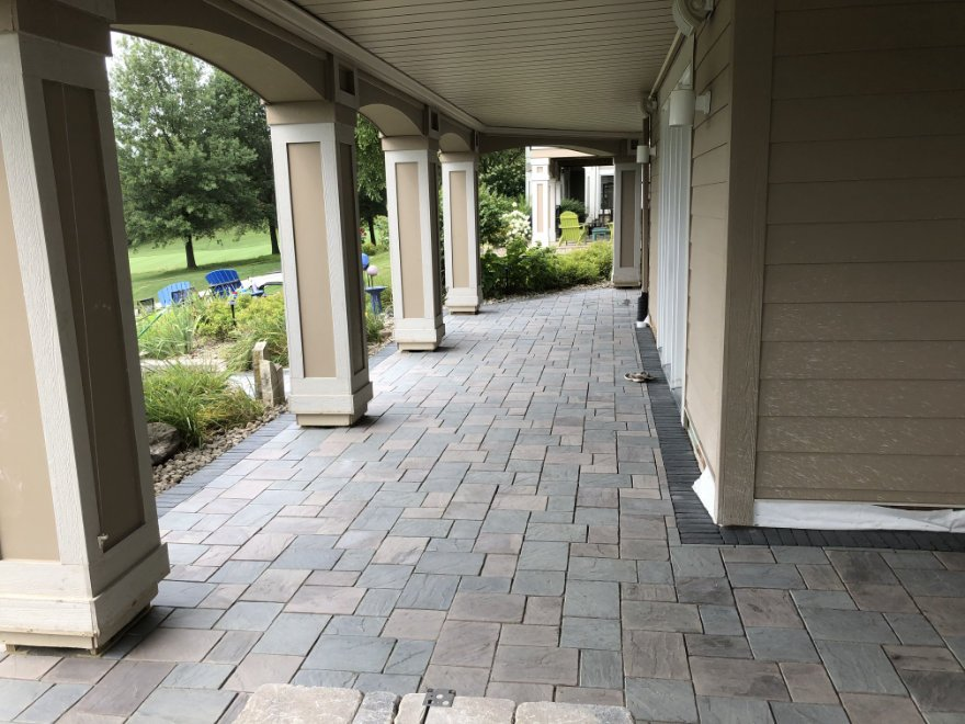 landscape project paver patio